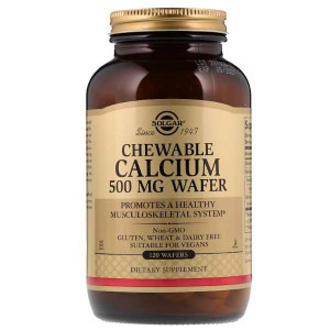 Solgar Chewable Calcium 500 мг (120 Wafers)