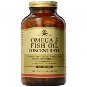 Solgar Omega 3 Fish Oil Concentrate Softgels (240 капс.)