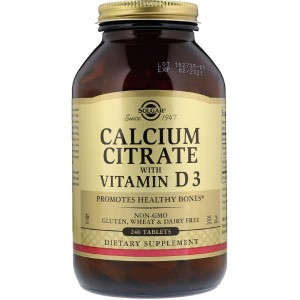Solgar Calcium Citrate with Vitamin D3 (240 таб.)