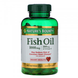 Nature's Bounty Fish Oil 1000 mg Rapid Release Softgels (145 капс.)