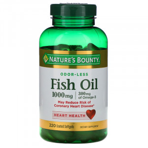 Nature's Bounty Odor-Less Fish Oil 1000 mg Softgels (220 капс.)