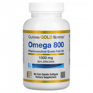 California Gold Nutrition Omega 800 by Madre Labs 1000 mg Softgels (90 капс.)