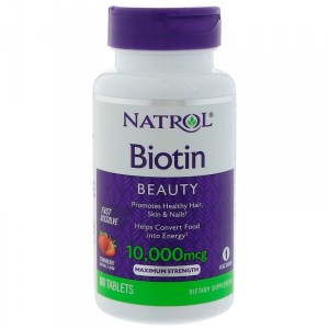 Natrol Biotin Strawberry Flavor 10000 mcg (60 таб.)