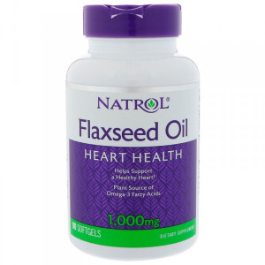 Natrol Flaxseed Oil 1000 мг Softgels (90 капс.)