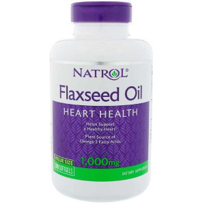 Natrol Flaxseed Oil 1000 мг Softgels (200 капс.)