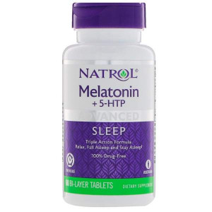 Natrol Advanced Sleep Melatonin + 5-HTP Bi-Layer (60 таб.)