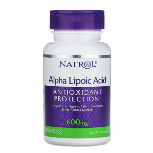 Natrol Alpha Lipoic Acid 600 mg (30 капс.)