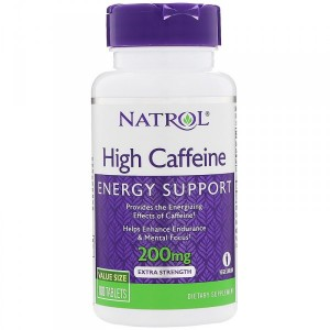 Natrol High Caffeine 200 мг (100 таб.)