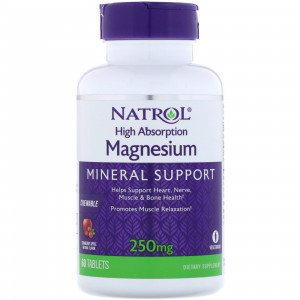 Natrol Magnesium High Absorption (60 жев.таб.)