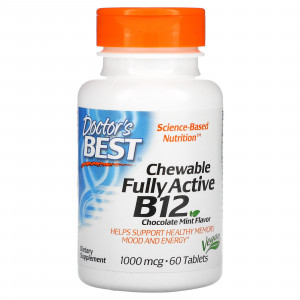 Doctor's Best Chewable Fully Active B12 1000 mcg (60 таб.)