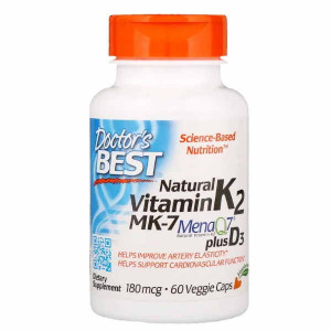 Doctor's Best Natural Vitamin K2 MK-7 180 mcg (60 капс.)