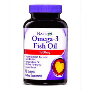 Natrol Omega-3 Fish Oil 1200 mg Softgels (60 капс.)