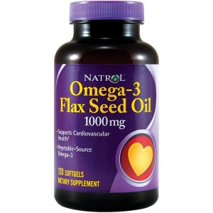 Natrol Omega-3 Flax Seed Oil 1000 mg Softgels (120 капс.)