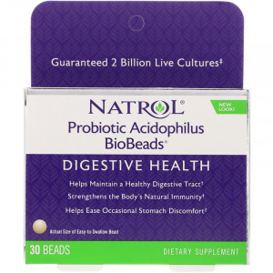 Natrol Probiotic Acidophilus 2 Billion BioBeads (30 капс.)