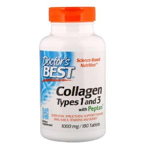 Doctor's Best Collagen Types 1 and 3 with Peptan 1000 мг (180 таб.)