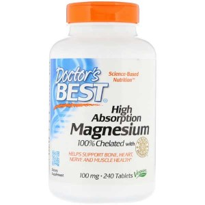 Doctor's Best High Absorption Magnesium 100% Chelated with Albion Minerals 100 mg (240 таб.)