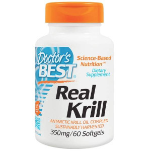 Doctor's Best Real Krill 350 mg Softgels (60 капс.)