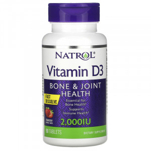 Natrol Vitamin D3 Strawberry 2000 IU (90 таб.)