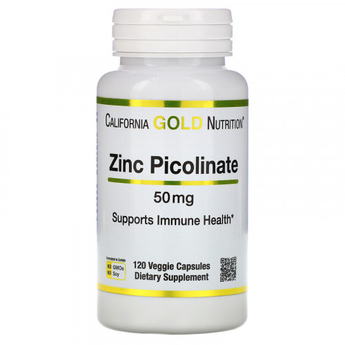 California Gold Nutrition Zinc Picolinate 50 мг (120 капс.)