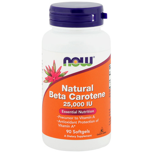 Now Foods Natural Beta Carotene 25000 IU Softgels (90 капс.)