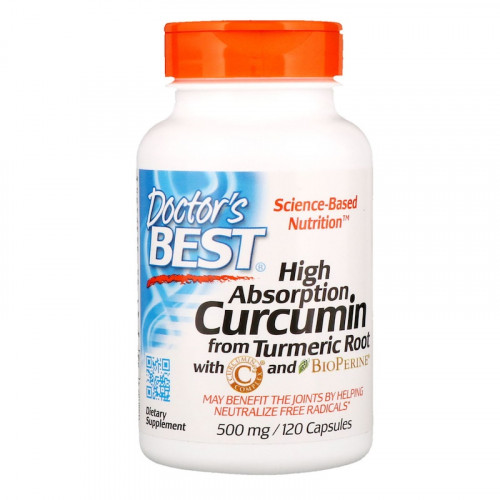 Doctor's Best High Absorption Curcumin 500 мг (120 капс.)