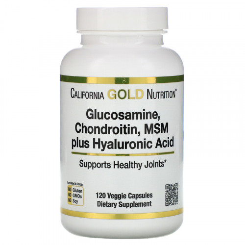 California Gold Nutrition Glucosamine Chondroitin MSM plus Hyaluronic Acid (120 капс.)