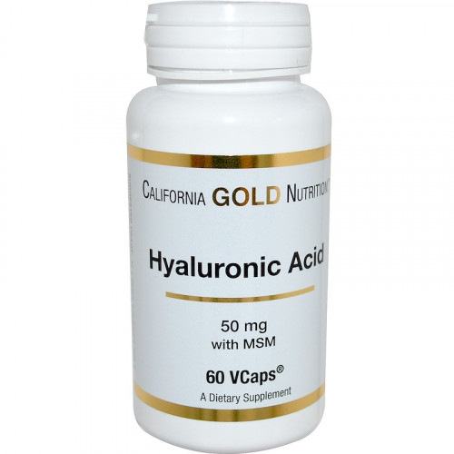 California Gold Nutrition Hyaluronic Acid with MSM 50 мг (60 капс.)