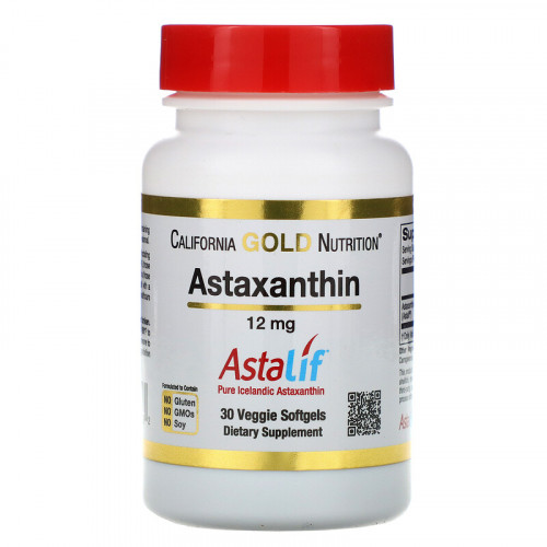 California Gold Nutrition Astaxanthin 12 мг Softgels (30 капс.)