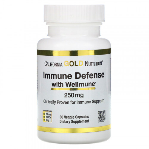 California Gold Nutrition Immune Defense with Wellmune 250 мг (30 капс.)