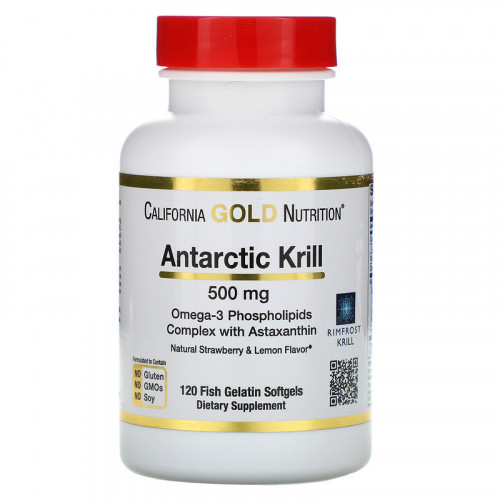 California Gold Nutrition Antarctic Krill Oil 500 мг Softgels (120 капс.)