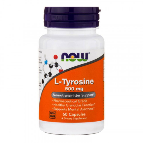Now Foods L-Tyrosine 500 мг (60 капс.)