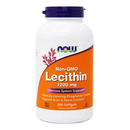Now Foods Lecithin 1200 мг Softgels (200 капс.)