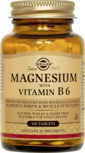 Solgar Magnesium with Vitamin B6 Tablets (100 таб.)