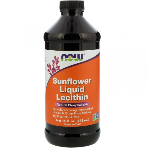 Now Foods Sunflower Liquid Lecithin (473 мл)