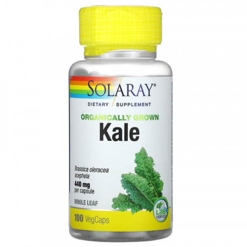 Solaray Organically Grown Kale 440 мг (100 капс.)