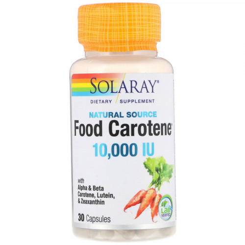 Solaray Food Carotene 10000 IU (30 капс.)