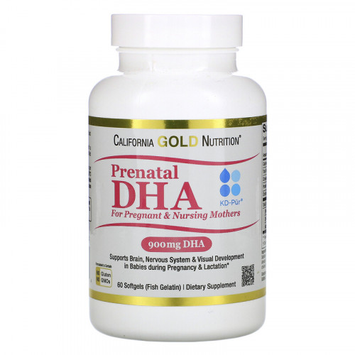 California Gold Nutrition Prenatal DHA for Pregnant & Nursing Mothers 900 мг Softgels (60 капс.)