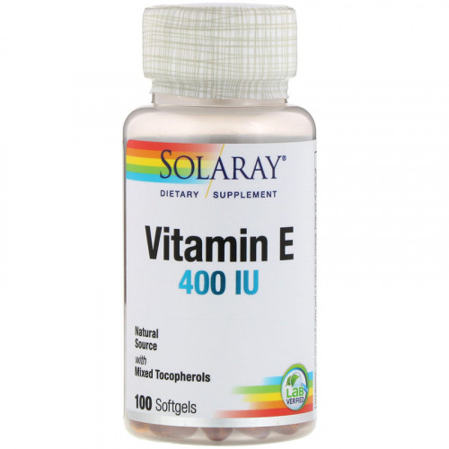 Solaray Vitamin E 400 IU Softgels (100 капс.)