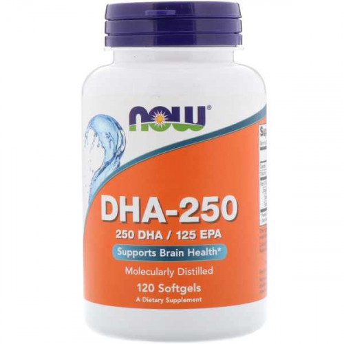 Now Foods DHA-250 EPA-125 Softgels (120 капс.)