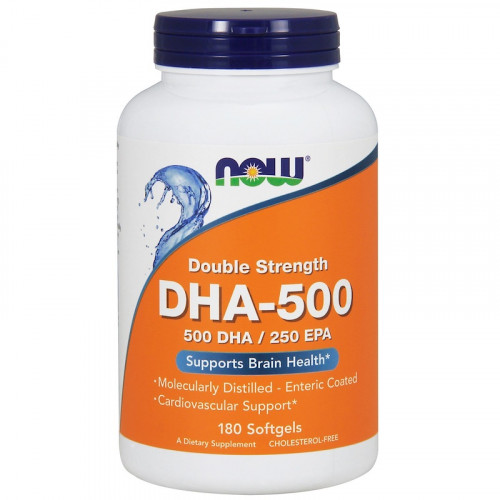 Now Foods DHA-500 Softgels (180 капс.)