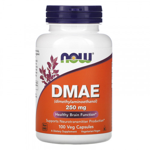 Now Foods DMAE 250 mg Veg Capsules (100 капс.)