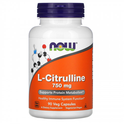 Now Foods L-Citrulline 750 мг (90 капс.)
