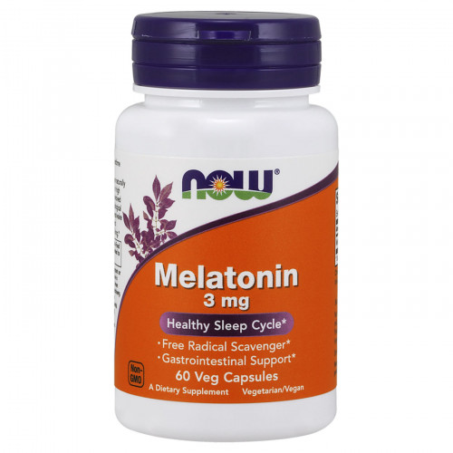 Now Foods Melatonin 3 мг (60 капс.)