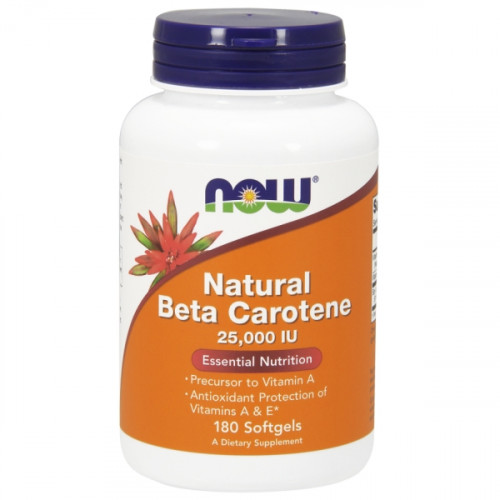 Now Foods Natural Beta Carotene 25000 IU (180 капс.)