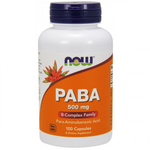 Now Foods PABA 500 мг (100 капс.)