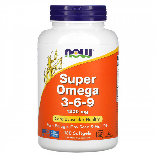 Now Foods Super Omega 3-6-9 (180 капс.)
