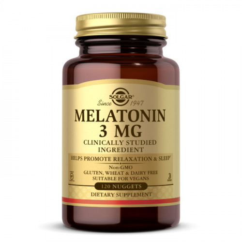 Solgar Melatonin 3 mg (120 Nuggets)