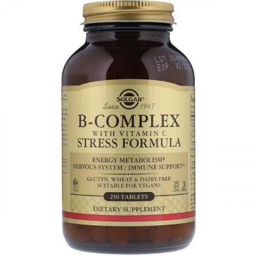 Solgar B-Complex with Vitamin C Stress Formula (250 таб.)