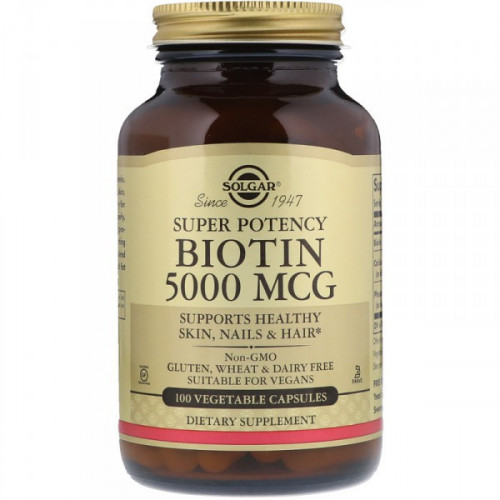 Solgar Biotin 5000 mcg Vegetable (100 капс.)