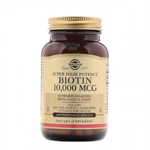 Solgar Super High Potency Biotin 10000 mcg Vegetable (120 капс.)